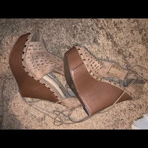 JustFab Wedges Never Worn